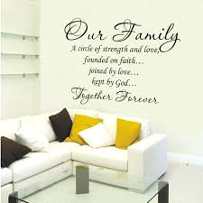 our family wall decal  on vinyl wall art words stickers with our family wall decal wall decor life goes on quote vinyl wall art