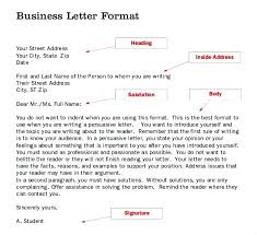 Business Letters Examples Template