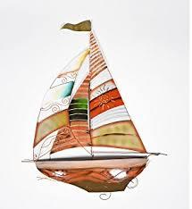 nautical sailboat sail boat cruiser yacht catalina hunter dinghy ship fishing metal ocean wall art on yacht metal wall art with amazon deco 79 metal sailing boat decor a perfect nautical