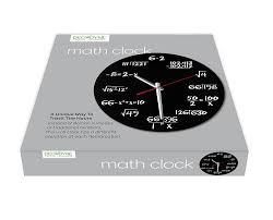 com decodyne math wall clock unique wall clock each hour marked by a simple math equation home kitchen