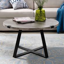 slate wrap leg grey wash coffee table