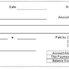 13 Template For A Receipt Of Payment Profesional Resume