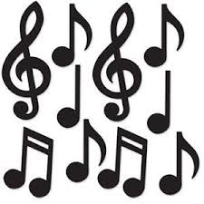 Image is loading Mini-Musical-Notes-Silhouette-Cutouts-10-Pack-Music-
