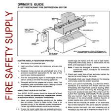 ansul restaurant archives fire safety supply Ansul R 102 Wiring Diagram ansul 418127 owner's guide, r 102 ansul r-102 wiring diagram