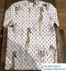 louis vuitton giraffe shirt. louis vuitton monogram printed t-shirt animals 2017 giraffe shirt
