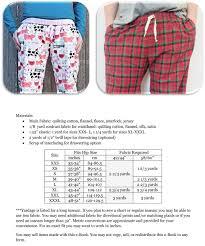Pajama Jeans Size Chart Hit The Hay Pajama Pants Sewing Mens Pants Pajama Pants
