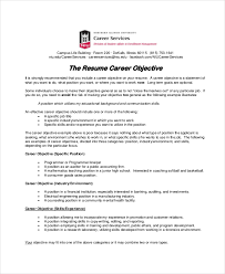 Resume Career Objective Statement 100 Sample Resume Objectives PDF DOC Free Premium Templates 64