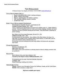 sample child development resume httpexampleresumecvorgsample child child development resume