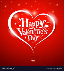 Happy Valentine Day Lettering Greeting Card