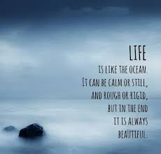 Beautiful Ocean Quotes Best of Life Quote LIFE IS LIKE AN OCEAN IT CAN BE CALM OR STILL AND