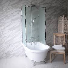 clawfoot tub and shower package br oasis 59 shpk extra wide classic clawfoot tub with