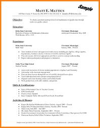 Math Teachersume Samples Freelance Tutor Elementary School No