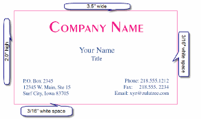 What Size Is A Standard Business Card Printing Business Cards