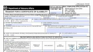 Certificate Certificate Of Eligibility Form