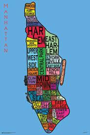 amazoncom posterservice manhattan neighborhoods poster prints