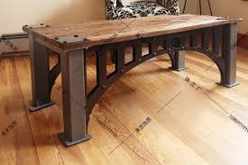 industrial furniture table. Brilliant Table American French Industrial Furniture Loft Old Vintage Wrought Iron Coffee  Table Made Of Solid Wood To Industrial Furniture Table B