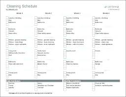 Examples Of Cleaning Schedules Weekly House Cleaning Schedule For Working Mom Checklist