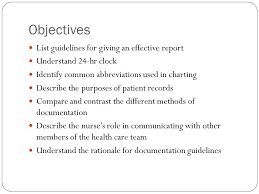 Nursing Charting Guidelines Reporting Documenting Conferring And Using Informatics
