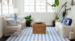 striped area rugs white blue stripes living room cusihons sofa couch