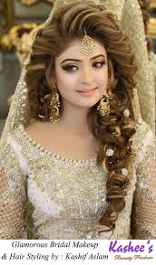wedding hairstyle and makeup unique kashees beautiful bridal hairstyle makeup beauty parlour