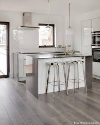 dean flooring company modern küche with metro tile splashback by