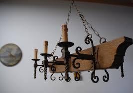 rustic wrought iron chandelier