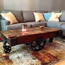 Lineberry Railroad cart in its new home as a coffee table. these beauties  left with