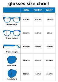 Eyeglass Frame Size Chart Baby Prescription Glasses