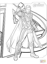 Small Picture Avengers Thor coloring page Free Printable Coloring Pages