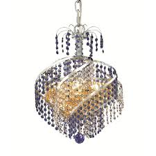 elegant lighting spiral chrome three light chandelier with royal cut crystal hover to zoom