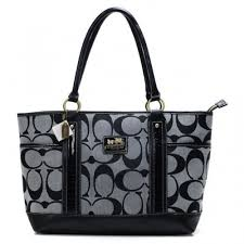 Coach Madison In Signature Large Grey Totes ANH