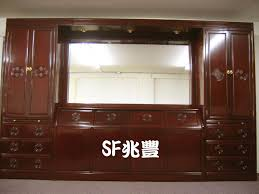 rosewood bedroom wall unit set