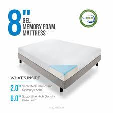 twin size mattress foam. Amazon.com: LUCID 8 Inch Gel Infused Memory Foam Mattress - Medium Firm Feel CertiPUR-US Certified 10 Year Warranty Twin: Kitchen \u0026 Dining Twin Size T