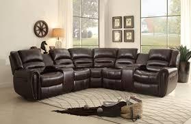 1brown l shaped sofa recliner