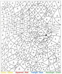 Small Picture Cat Color by number coloring page Color THIS Pinterest Cat