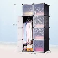 cabinet 8 cubes black stripes diy wardrobe black stripes foc 1 hanger