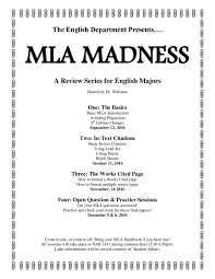 Mla Madness Session Iii The Works Cited Page 8th Edition W 1116