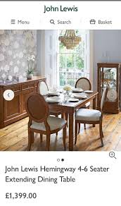 john lewis hemingway extending dining table chairs 2000 new