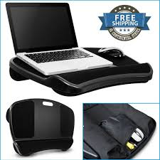 portable laptop tray lap desk table bed cushion 17 notebook pad computer stand