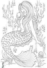 The little mermaid coloring page with few details for kids. Incredible Free Printable Mermaid Coloring Pages Tremendous Color Freeable Madalenoformaryland