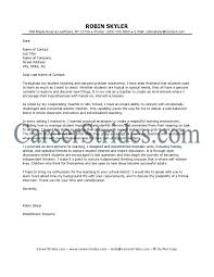Cover Letter For Substitute Teaching Sample Resume For Preschool
