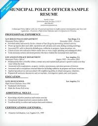 Police Officer Resume Example Inspirational Police Officer