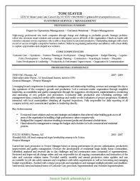 Good Program Manager Cv Sample Construction Project Manager Resume
