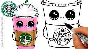 How To Draw A Starbucks Frappuccino Cute Cartoon Drink Youtube