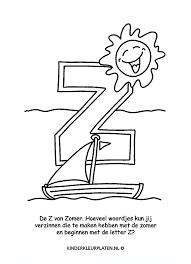Kleurplaat Z Letter Zomer Spelletjes