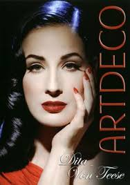 dita von teese s make up collection with art deco is a collection of neutral eyeshadows and red lips what else right this is the dita look she says the
