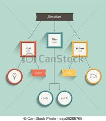 chart graphic design. Flowchart, Workflow Chart. Flat Design. Retro Color Style. - Csp28266765 Chart Graphic Design