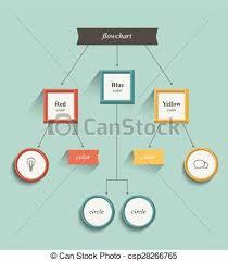 Flowchart Workflow Chart Flat Design Retro Color Style