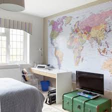 furniture for boys room. teen boyu0027s room with map mural boysu0027 bedroom design ideas childrens furniture for boys r