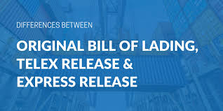 bill of loading differences between an original bill of lading telex